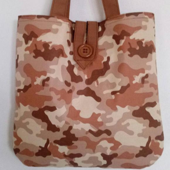 Handmade Handbags - Brown Camo Tote Bag